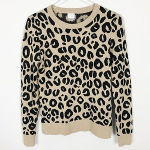 A New Day Leopard Cheetah Crewneck Sweater Small